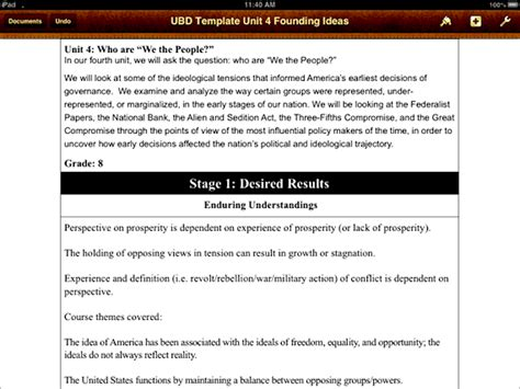 ubd template crafting scripting reflecting on history lesson plans