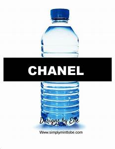 chanel party favor water bottle labels With chanel water bottle labels