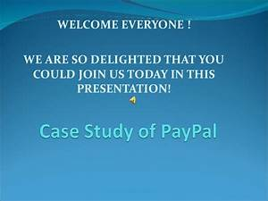 Group 3 Case Study of PayPal