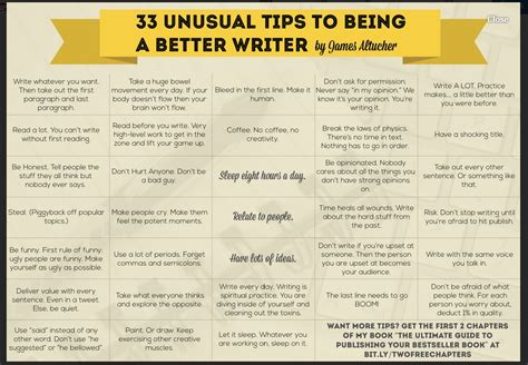 Writing Tips by Creativiti Project 33 Writing Tips