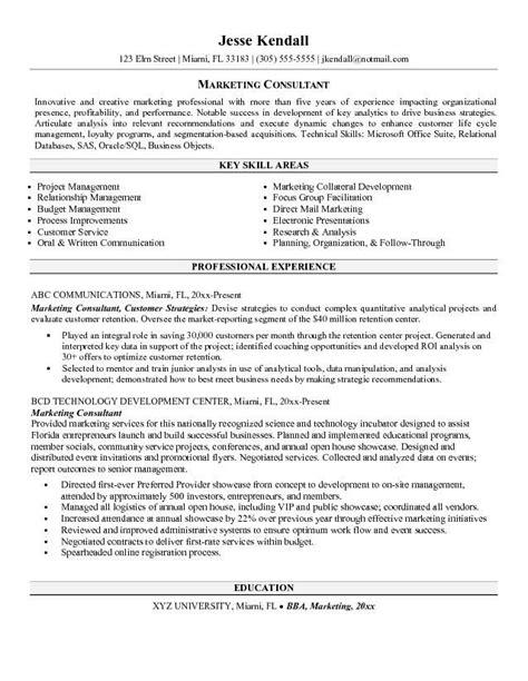 marketing consultant resume http jobresumesle