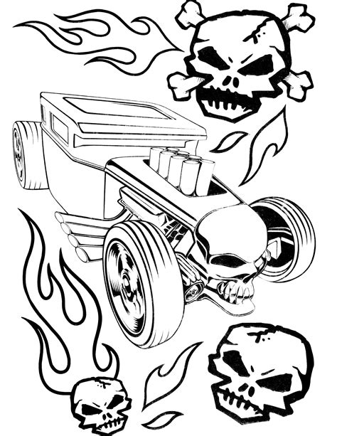 hot wheels coloring pages getcoloringpagescom