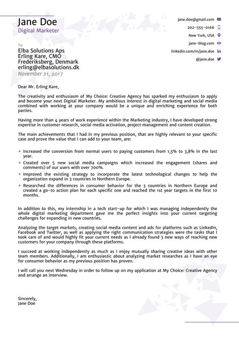 11817 professional cover letter templates exle of cover