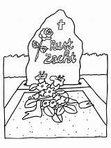 Kleurplaten Coloring Funeral Dood Begrafenis Tod Ausmalbilder Beerdigung Verstorbene Graf Enterrement Kleurplaat Animaatjes Pasen Fallecido Dibujos Mort Holiday Dagen Speciale sketch template