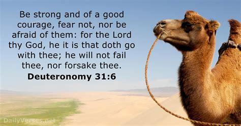 Deuteronomy 316 Kjv Bible Verse Of The Day