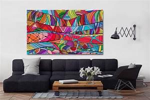 Tableau Moderne Coloré : tableau color ficelion ~ Teatrodelosmanantiales.com Idées de Décoration
