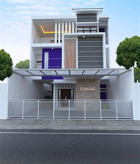 desain rumah modern sempit arcadia desain