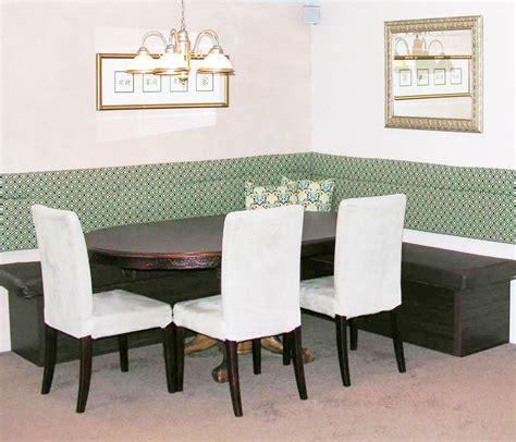 corner kitchen nook set with storage furniture white wooden corner storage bench on brown 9465