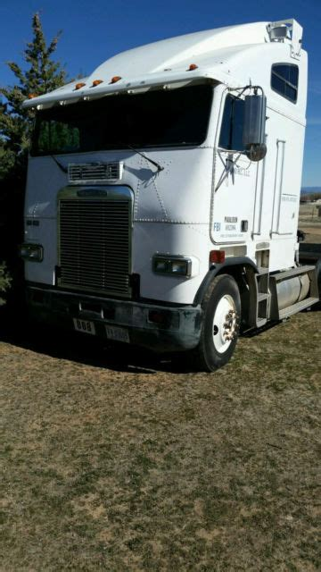 white freightliner fla cabover classic