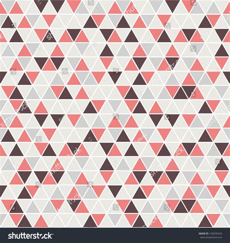 Seamless Triangle Pattern Vector Background Geometric