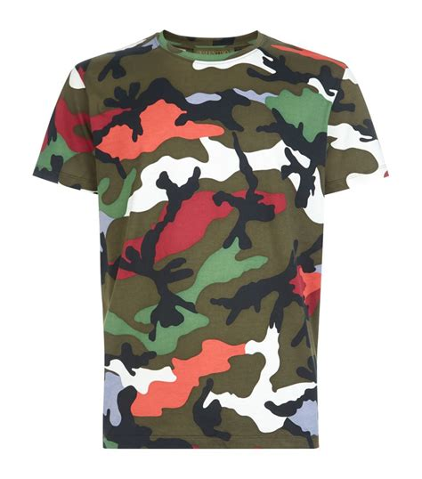 valentino t shirt valentino camouflage t shirt in green for lyst