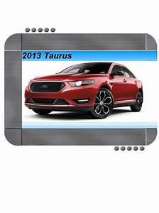 Ford Taurus  Police Interceptor Sedan 2013 Factory Service