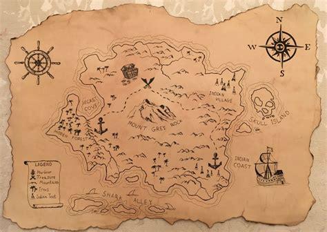 diy   draw  treasure map   steps