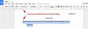 mla format using google docs mlaformatorg With google docs add indent