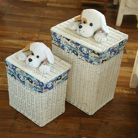 panier basket chambre decorative wicker baskets with lids large laundry basket