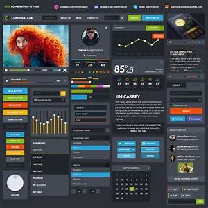 Beautiful Resume Templates Free 20 Free Best Web Ui Elements Mobile Gui Design Kits Of