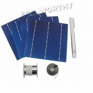 Diy 100w Solar Panel 25pcs 6x6 Solar Cells Kit W   Tab Bus