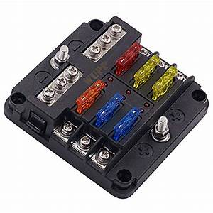 Wupp 12 Volt Fuse Block  Waterproof Boat Fuse Panel With