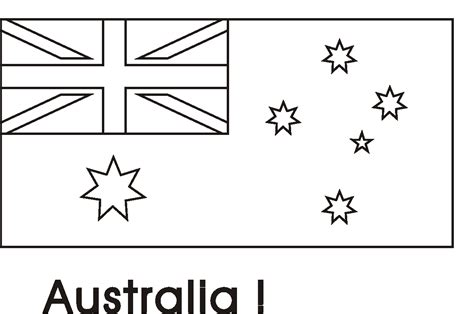 australian flag colouring page geography class pinterest