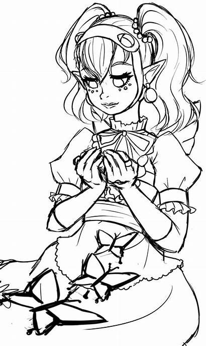 Princess Coloring Hyrule Warriors Sketch Agitha Kingdom