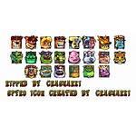 Crash Spriters Nitro Kart Icons Sheet Playstation
