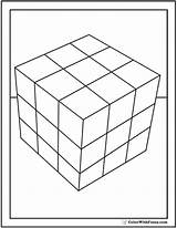 Cube Coloring Rubics Rubiks Template Shape Square Cubes Pdf Colorwithfuzzy sketch template