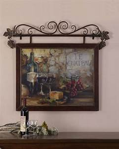 Large wine le chateau tuscan french country wall decor