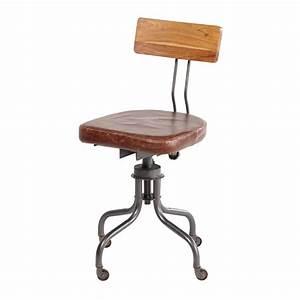 Chaise Cuir Maison Du Monde : chaise de bureau indus en cuir janischaise pivotante 40x88x40cm ~ Teatrodelosmanantiales.com Idées de Décoration