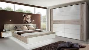 Schlafzimmer Weiß Landhaus : schlafzimmer 1 rondino komplettset in sandeiche wei hochglanz mit led ~ Sanjose-hotels-ca.com Haus und Dekorationen