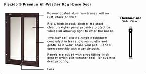 Climate master plus insulated dog house for Best dog door for winter