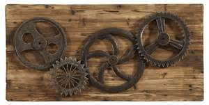 industrial gears wall decor havertys   home