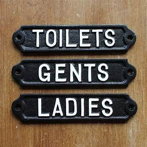antique style toilet door signs cast metal toilets With antique bathroom sign