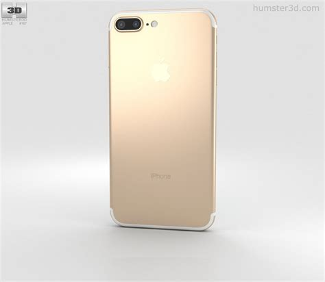 gold iphone 7 apple iphone 7 plus gold 3d model humster3d