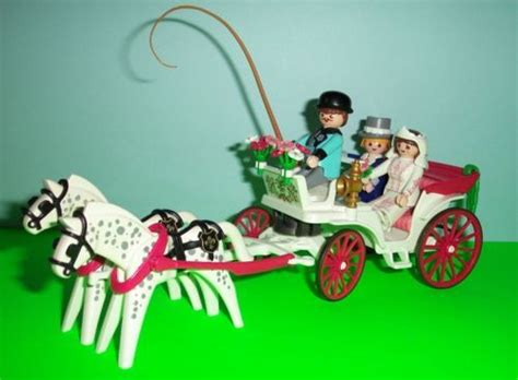 playmobil victorian wedding carriage   bride groom