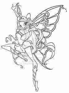 Winx Bloom Enchantix Coloring Club Stella Pages Grig3org