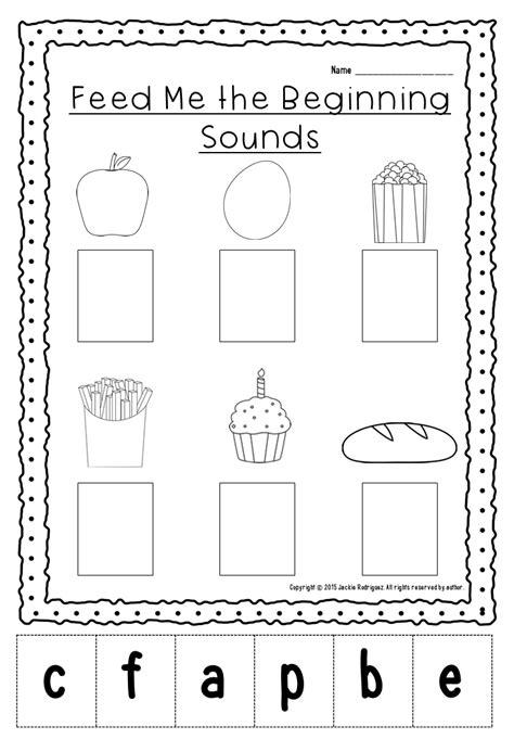beginning sounds packet  images beginning sounds