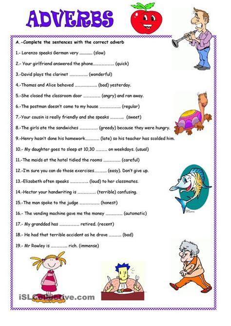 adverbs worksheet search adverbs