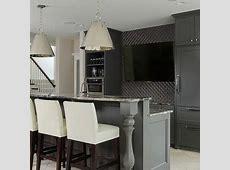 Gray Basement Bar Cabinets Design Ideas