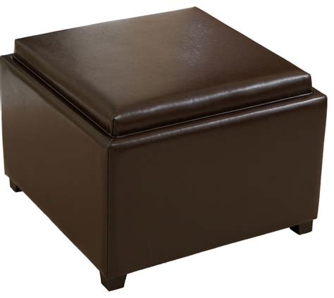 ottoman with storage and tray jefferson tray top storage ottoman coffee table
