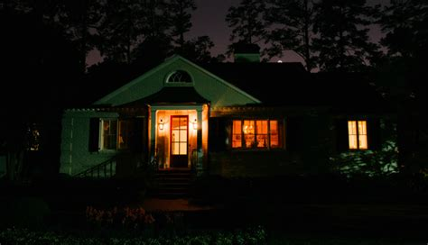 house porch at night architectural lighting brings white ranch back to life at