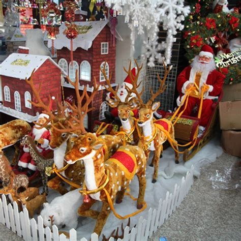christmas decoration large christmas sleigh pulled by