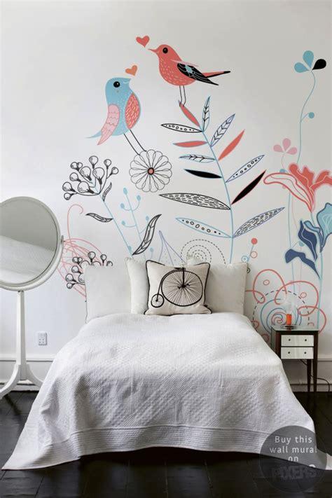 papier peint chambre ado fille deco chambre fille papier peint fleurs et oiseaux le
