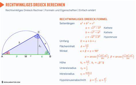 rechtwinkliges dreieck formel flaeche umfang hoehe