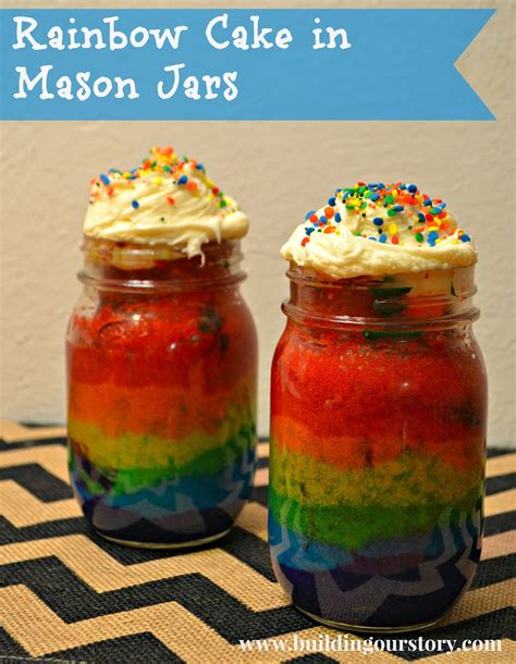 cake in a jar recipe rainbow cake in a jar recipe dishmaps