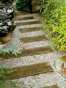 allee de jardin pour un amenagement exterieur original et deco With allee de jardin en gravier
