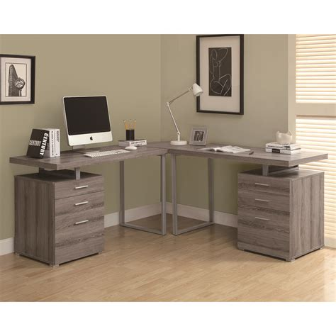 L Shaped Computer Desk Canada by Monarch Specialties Hollow L Shaped Desk Lowe S Canada