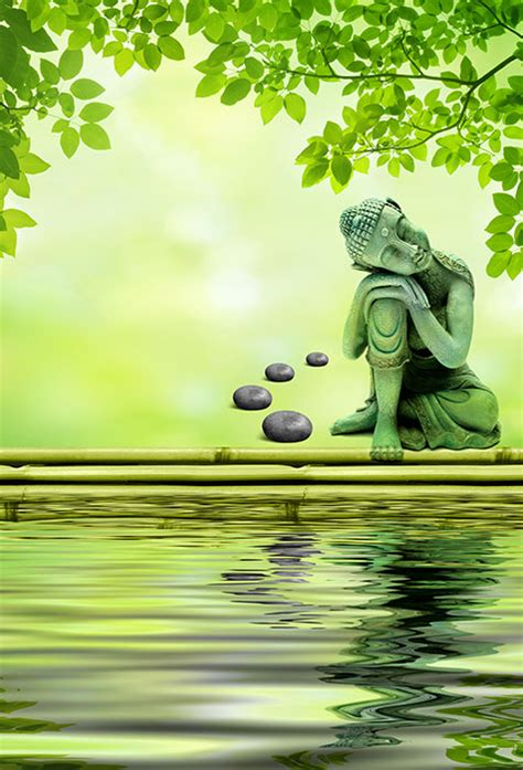 shop buddha   water edge wallpaper  zen theme