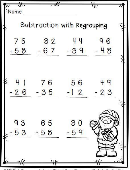 grade 2 subtraction subtraction with regrouping worksheets 2nd grade kelpies