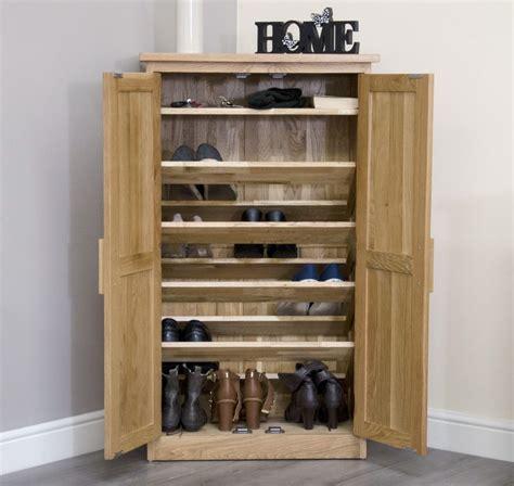shoe storage cabinet arden solid oak hallway furniture shoe storage cabinet