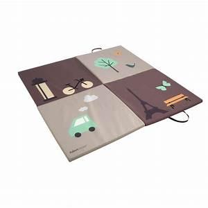 Tapis matelas de sol marron de aubert concept tapis d for Tapis chambre enfant avec matelas 150 200